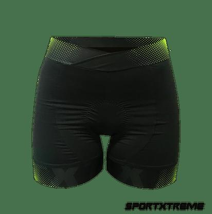 Bermuda Active Ciclismo Feminino Sport Xtreme Verde E Preto