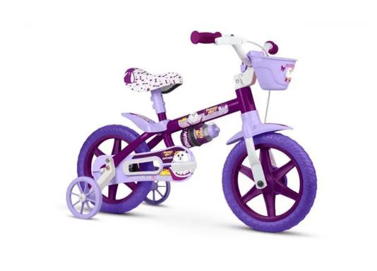 Bicicleta Infantil Aro 12 Puppy Nathor Roxo