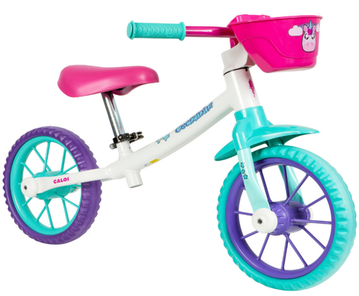 Bicicleta Caloi Infantil Aro 12 Balance Cecizinha