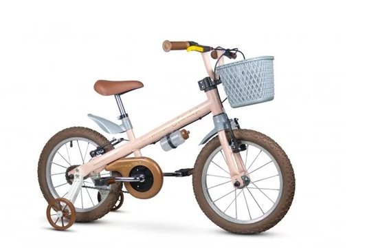 Bicicleta Infantil Aro 16 Antonella Girl Bege