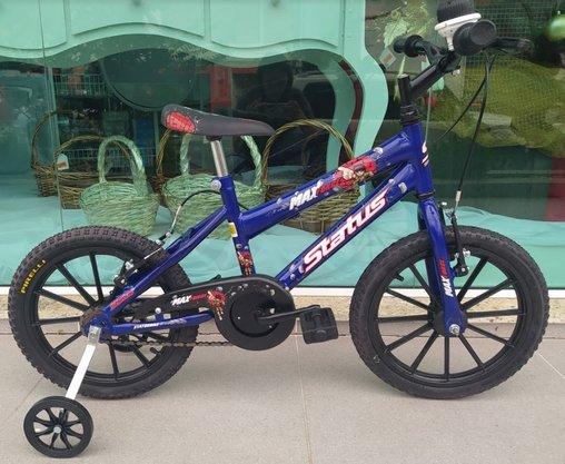 Bicicleta Infantil Status Aro 16 Azul Real