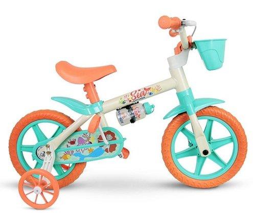 Bicicleta Nathor Infantil Aro 12 Sereia Sea