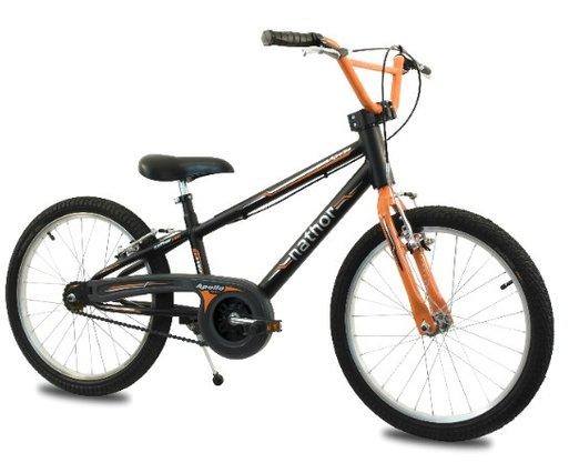 Bicicleta Nathor Masculina Aro 20 Apollo Preto e Laranja