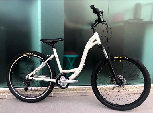 Bicicleta Soul Flow Alumínio Aro 26 Freio à Disco - Bege