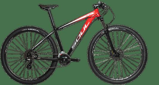Bicicleta Soul SL129 Altus 2x8V 2021 - Preto/Vermelho