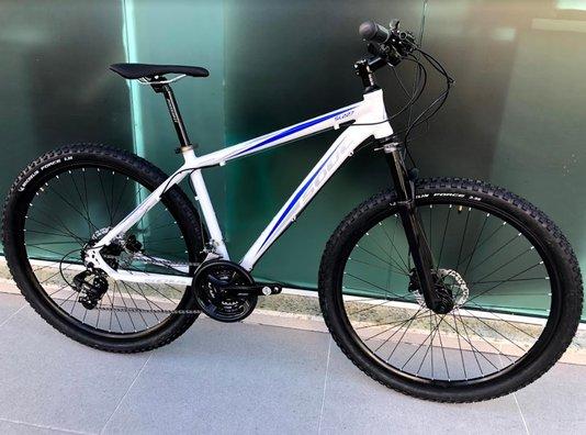 Bicicleta Soul SL227 Alumínio Aro 29 Freio Hidráulico Shimano - Branco/Azul