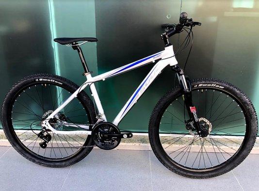 Bicicleta Soul SL227 Alumínio Aro 29 24v Freios à Disco Hidráulico - Branco/Azul