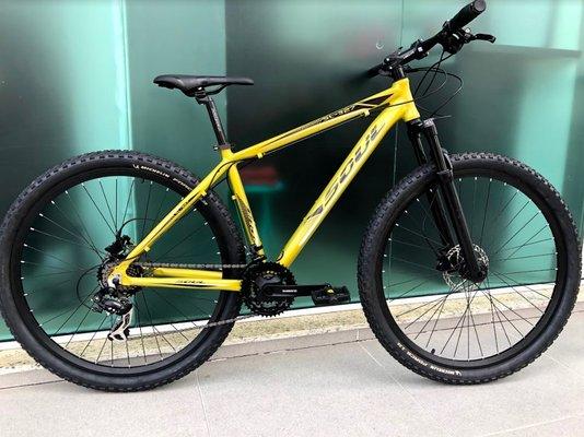 Bicicleta Soul SL327 Alumínio Aro 29 Freios à Disco Mecânico GTS - Dourada