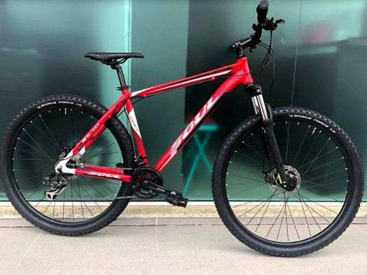 Bicicleta Soul SL527 Alumínio Aro 29 Freios Hidráulicos - Vermelho e Branco M/17
