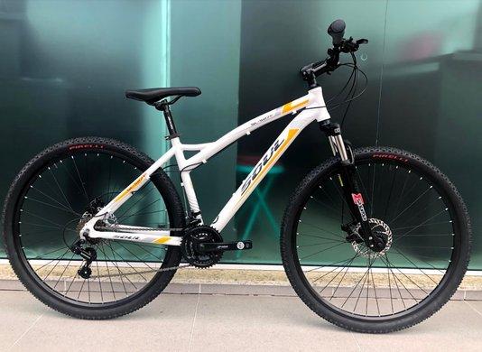 Bicicleta Soul SL527 F Alumínio Aro 29 Freios à Disco - Branca/Amarela