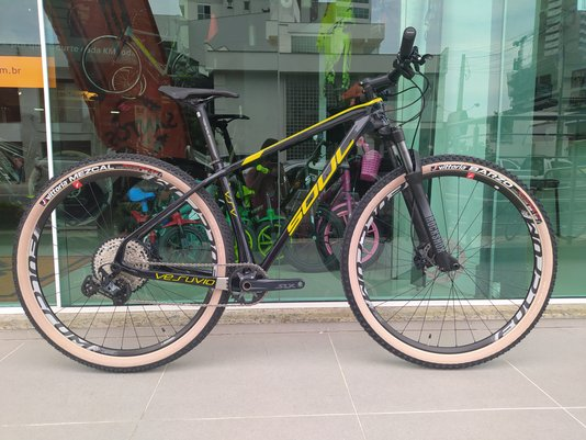 Bicicleta Vesúvio Slx 12V Rodas Fulcrum Gotic Blue/ Amarelo Lemon