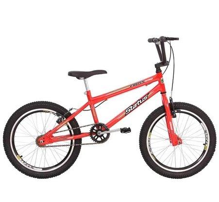 Bicicleta Status Aro 20 Cross Aero Laranja Neon