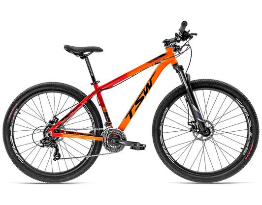Bicicleta TSW Ride 21v Freio à Disco Mecânico - Laranja/Vermelho