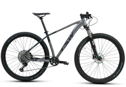 Bicicleta Tsw Yukon Plus Freio Shimano Hidráulico Aro 29 12V - Cinza/Preto M/17,5