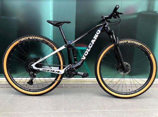Bike Soul Volcano NX Eagle 21V Full Preta e Prata