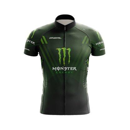 Camisa Ciclismo Black Cat Sport Wear Monster