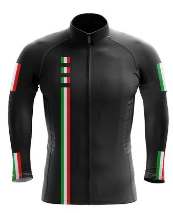 Camisa Ciclismo Manga Longa Black Cat Sport Wear Italia