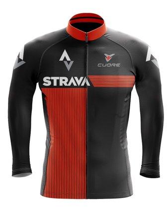 Camisa Ciclismo Manga Longa Black Cat Sport Wear Strava
