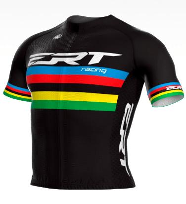 Camisa Ciclismo Elite Ert Campeão Mundial Preta