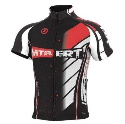Camisa de Ciclismo Ert New Tour MTB - Preto/Vermelho