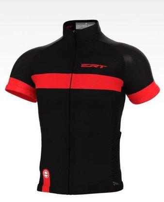 Camisa de Ciclismo ERT Nova Tour - Preto/Vermelho