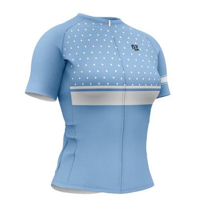Camisa de Ciclismo Gold Calm Blue Água Rara