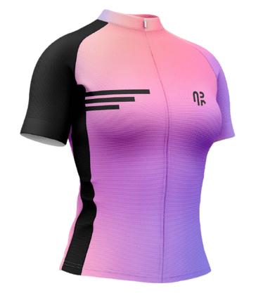 Camisa Ciclismo Manga Curta Água Rara Silver Purple