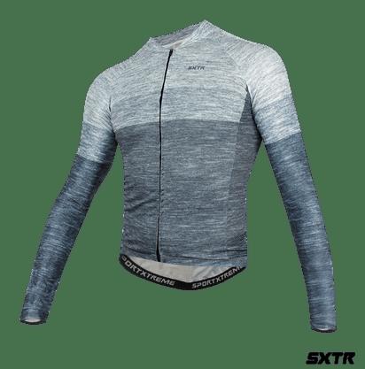 Camisa Slim Manga Longa Sport Xtreme Mescla Cinza