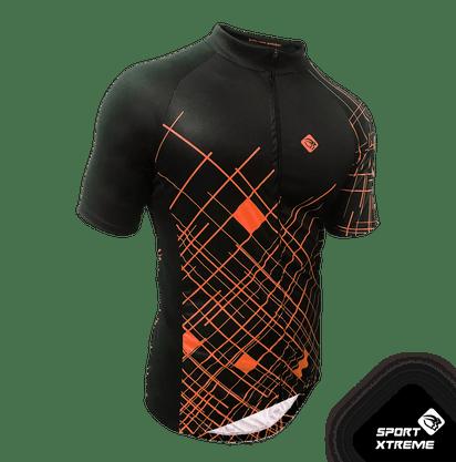 Camisa Sport Xtreme Masculina Circuit Preto e Laranja