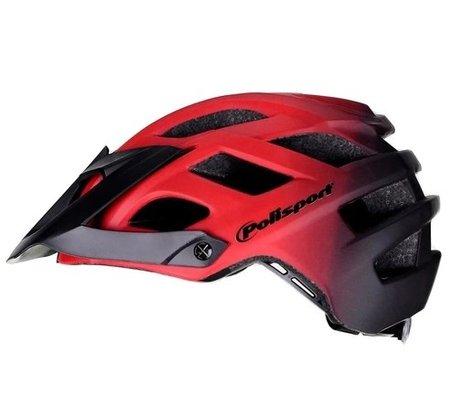 Capacete Ciclismo Polisport E3 - Vermelho/Preto M/G (58cm-61cm)