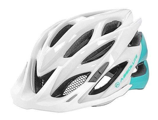 Capacete de Ciclismo Absolute Mia Com Luz de Led - Branco/Verde