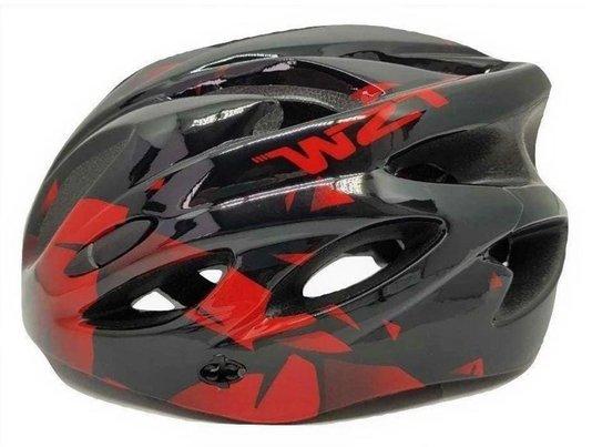 Capacete de Ciclismo TSW Raptor II com Led - Preto/Vermelho