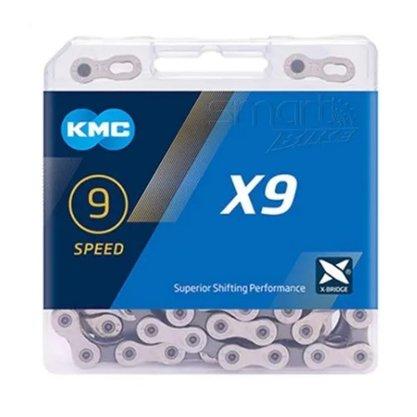Corrente Kmc 9V X9 Pta/Cinza 116 Elos