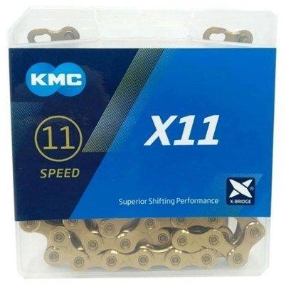 Corrente KMC X11 Dourada 11 V 118 Elos