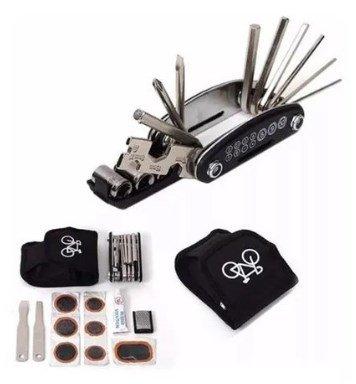 KitFerramentas e Canivete Reparos Bike e Pneu