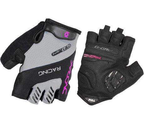 Luva de Ciclismo com Gel Dvorak Racing - Preto/Rosa