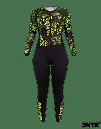 Macacão Ciclismo Confort Sportxtreme Selva Limão