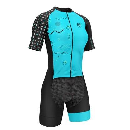 Macaquinho Ciclismo Água Rara Sports Wear Tiffany