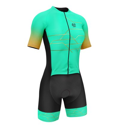 Macaquinho Ciclismo Água Rara Sports Wear Gg