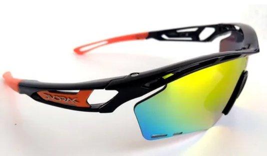Óculos de Ciclismo Devorak One com 3 Lentes - Laranja/Grafite