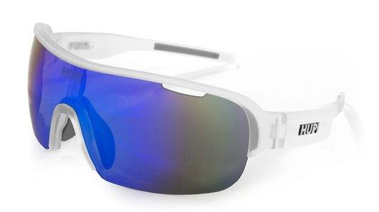 Óculos de Ciclismo HUPI Pacer Cristal/Cinza - Lente Azul Espelhado