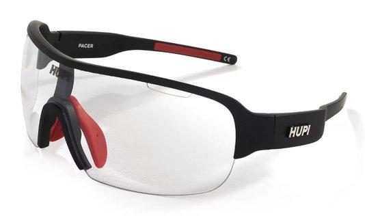 Óculos de Ciclismo HUPI Pacer Preto/Vermelho - Lente Transparente