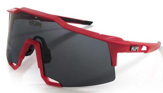 Óculos de Ciclismo HUPI Stelvio Vermelho/Preto - Lente Preto