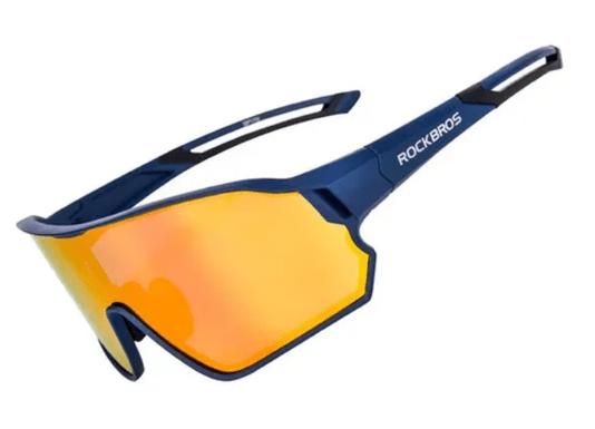 Óculos Ciclismo Rockbros Lente Espelhada C/ Proteção Uv