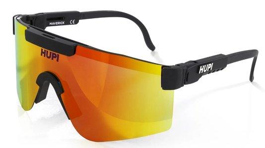 Óculos de Sol HUPI Maverick Preto/Vermelho - Lente Vermelho Espelhado