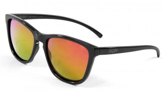 Óculos de Sol HUPI Paso Armação Preto Lente Vermelho Espelhado