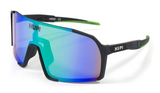 Óculos Hupi Andez Preto/Verde - Lente Verde Espelhada