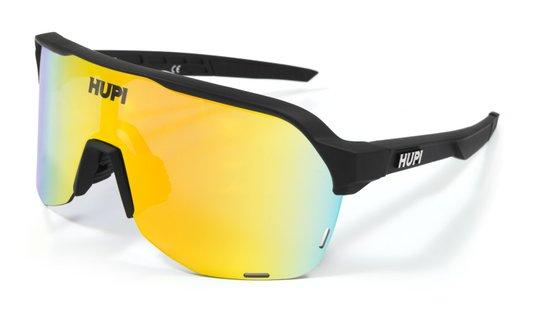 Óculos Hupi Huez Preto - Lente Dourada Espelhado