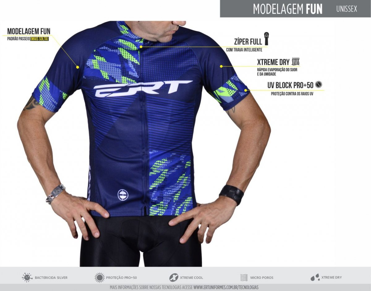 Camisa Ciclismo Feminina Ert Classic Floral