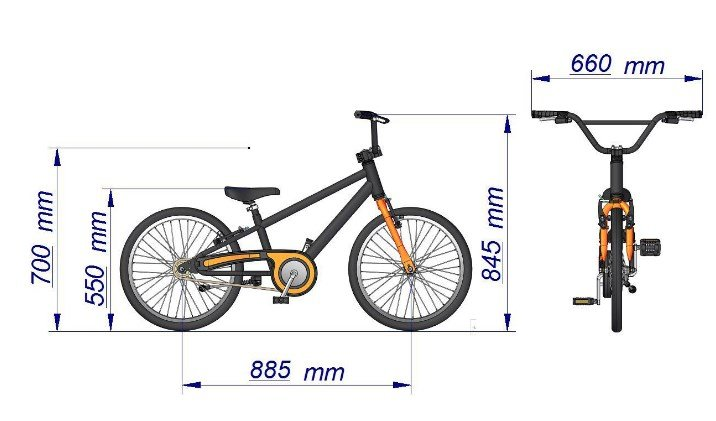 Bicicleta Infantil Aro 20 Bella Nathor